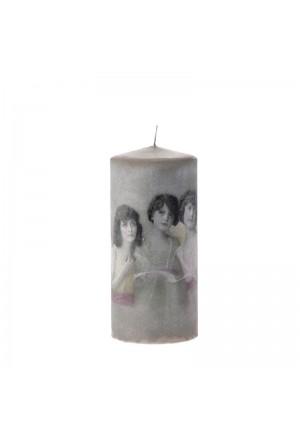 Vintage Κερί τρία κορίτσια 8χ18