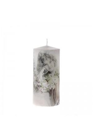 Vintage Κερί κορίτσι πρασ. φόρεμα 8χ18