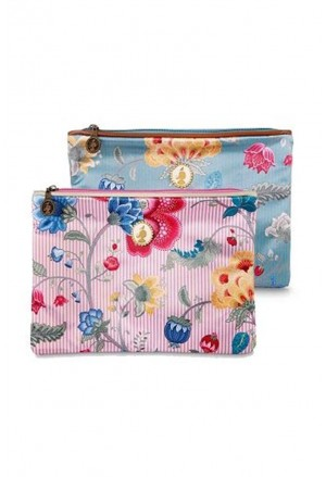 Floral Fantasy Bloomingtales flat toiletry bag