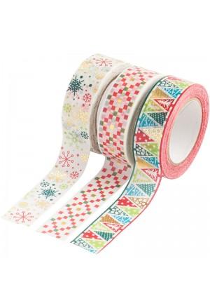 Xριστούγεννα Γεωμετρικά Washi Tape