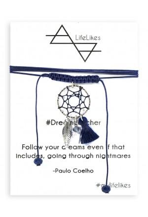 Dreamcatcher Choker Necklace ΜΠΛΕ