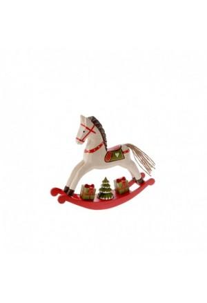 WHITE HORSE ROCKING 21X5X18