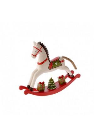 WHITE HORSE ROCKING 28X6X25