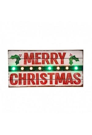 ΤΑΜΠΕΛΑ 8 LED (MERRY CHRISTMAS)ΞYΛINH