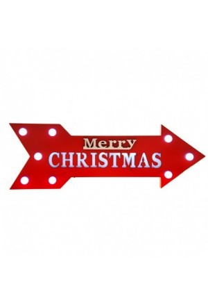 SIGN ARROW MERRY CHRISTMAS 60X20