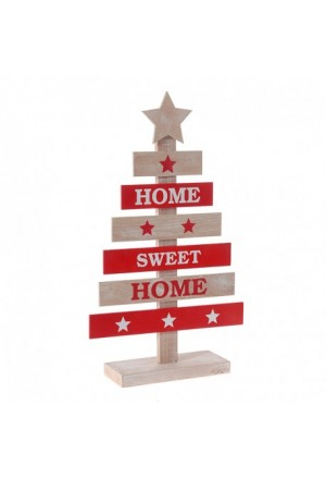 TREE WOODEN RED-NATURAL 24X10X57