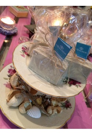 Glycerin Soap with Shea Butter, Green clay blocks and flavour Baby Rose