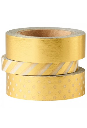Shiny Metallic Washi Tape Set of 3