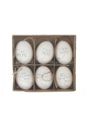 Αυγά χήνας Peep peep (Σετ/6)