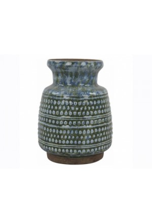 Vase antique blue 15x20cm.