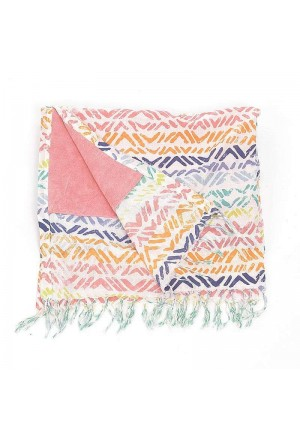 DOUBLE SIDE BEACH TOWEL IN MULTI COLOR