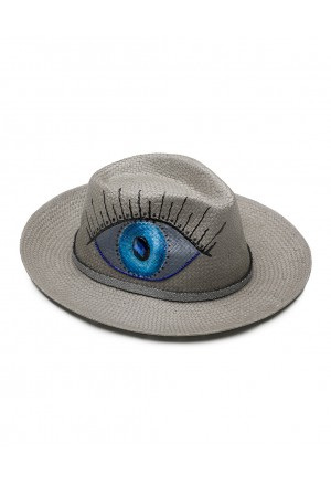 EYE LOOK (GREY) HAT