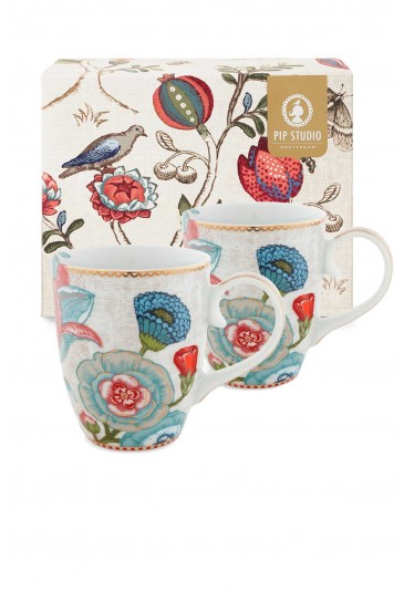 Spring to Life Gift set 2 Mugs Large Off White