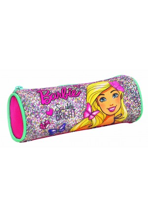 ROUND PENCIL CASE BARBIE SPARKLE