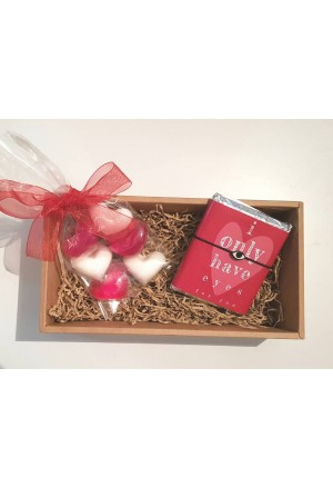 GIFT BOX SOAPS GLYCER AND CHOCOLATE WITH EYE CHARM