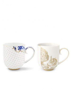 Royal White Set 2 Mugs Large