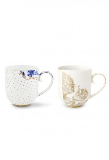 Royal White Set 2 Mugs Large
