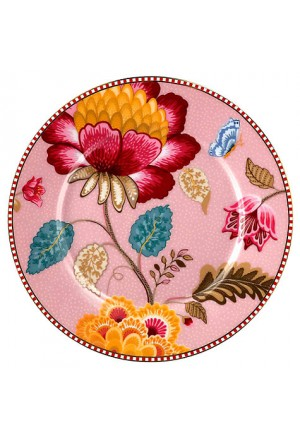 Floral Fantasy underplate pink 32cm