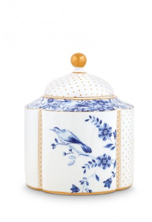 Royal White Storage Jar Small