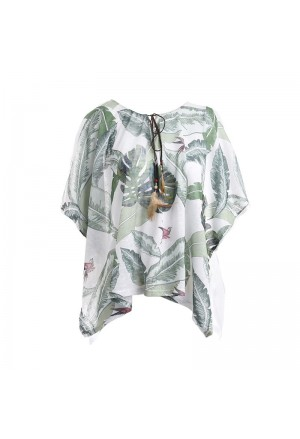 KAFTAN/BLOUSE WITH JUNGLE PRINT