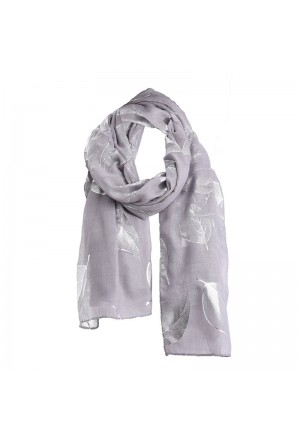 SCARF/PAREO IN GREY/SILVER COLOR