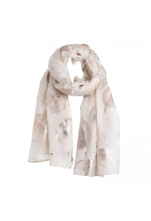 SCARF/PAREO IN BEIGE/ROSE GOLD COLOR