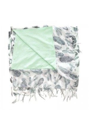 DOUBLE SIDE BEACH TOWEL WITH CACTUS