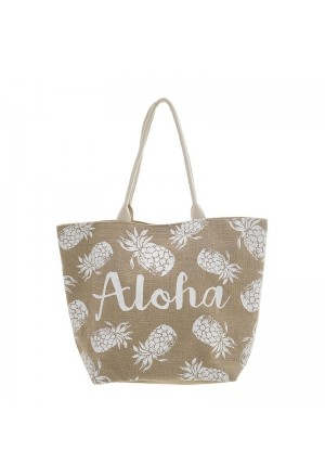 STRAW BEACH BAG ALOHA