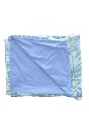 DOUBLE SIDE BEACH TOWEL WITH FLOWERS