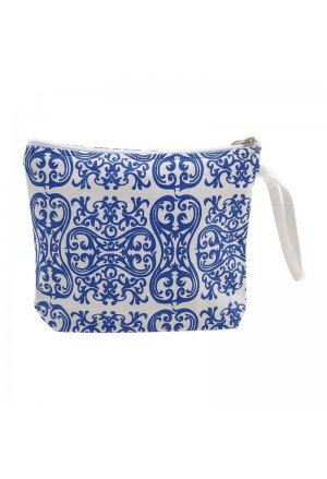 SMALL BAG WHITE WITH BLUE