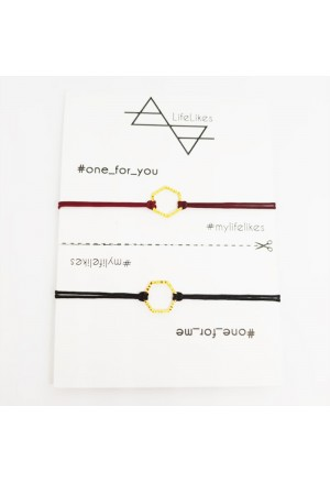 One for you One for Me Polygon Bracelets