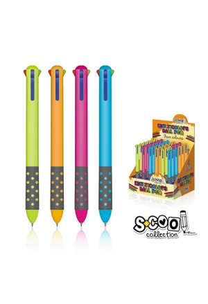 PEN SCOOL SOFT GRIP 3COLOURS