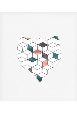 Σαλιάρα bandana geometric cube