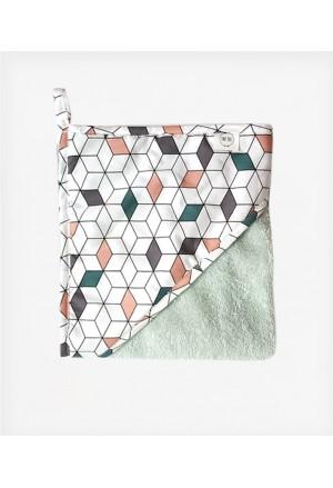 Μπουρνούζι κάπα Geometric Cube