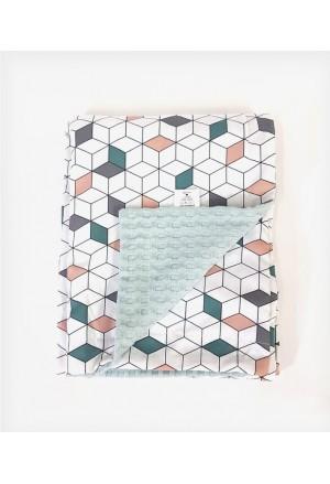 Κουβέρτα Διπλής όψης Geometric Cube