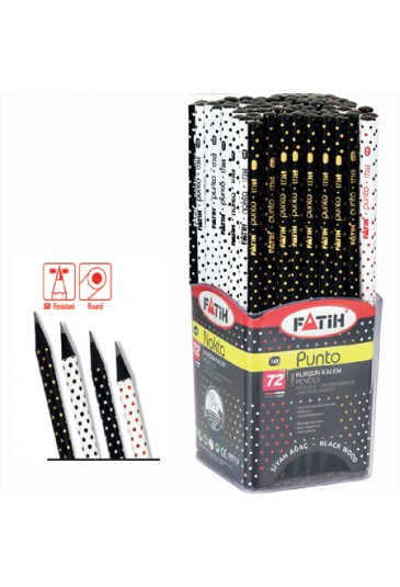 PENCIL FATIH BLACK WOOD HB PUNTO