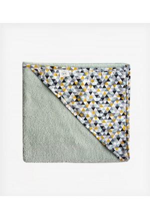 Μπουρνούζι κάπα Mosaic Triangles Mint