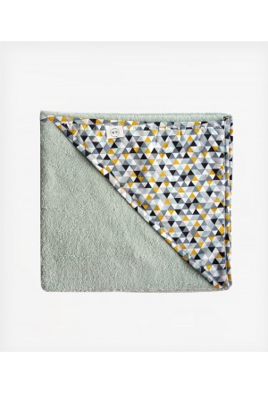 Towel Mosaic Triangles Mint