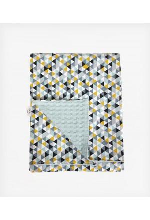 Κουβέρτα Διπλής όψης Mosaic Triangles Mint