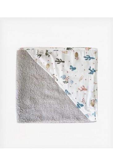 Towel Multicolor Cactus Grey