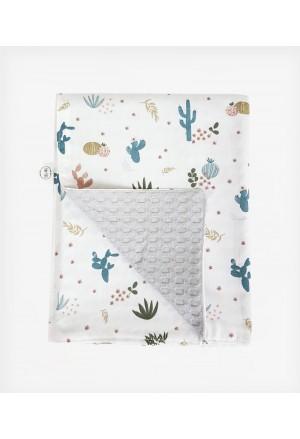 Κουβέρτα Διπλής όψης Multicolor Cactus Grey