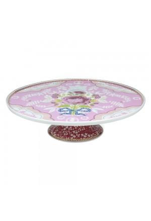 Δίσκος Γλυκού Floral pink 30,5cm