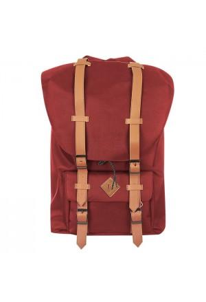 SCHOOL BAG RED 43x28x15cm