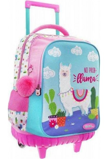 TROLLEY SCHOOL BAG LAMA 45x34x20cm