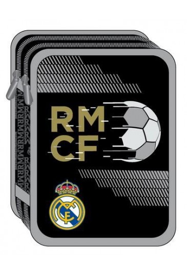 DOUBLE DECK PENCIL CASE FILLED REAL MADRID