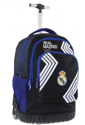 TROLLEY SCHOOL BAG REAL MADRID 31x20x47cm