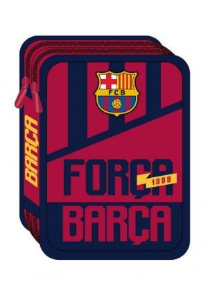 DOUBLE DECK PENCIL CASE FILLED BARCELONA