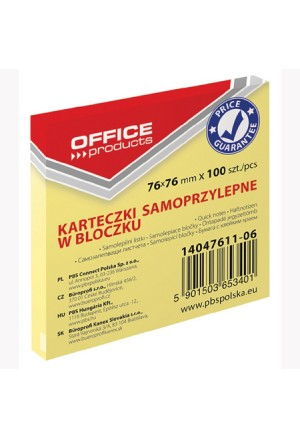 NOTES YELLOW OFFICE CUBE PAD 100 76X76