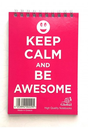 BLOCK GLOBAL KEEP CALM 10X14 SIDE 120S.