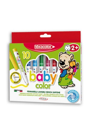 MARKERS FIBRA BABY COLOR 10 COLORS